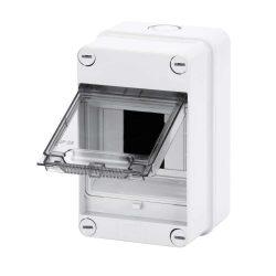 GEWISS GW40001 lakáselosztó 4 modulos falon kívüli átlátszó ajtóval IP55