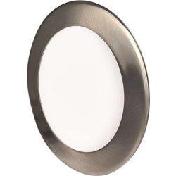 GREENLUX Mini Led Panel VEGA kör lámpa Ezüst keret 6W Meleg fehér