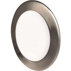 Mini Led Panel VEGA kör lámpa Ezüst keret 6W Meleg fehér