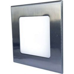 Mini Led Panel VEGA négyszögletes lámpa Ezüst keret 6W Meleg fehér