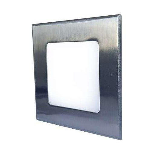 GREENLUX Mini Led Panel VEGA négyszögletes lámpa Ezüst keret 6W Meleg fehér
