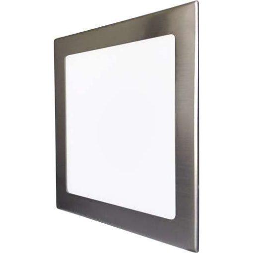 GREENLUX Mini Led Panel VEGA négyszögletes lámpa Ezüst keret 18W Meleg fehér