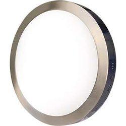LEDES lámpa FENIX kör Ezüst keret 24W Meleg fehér