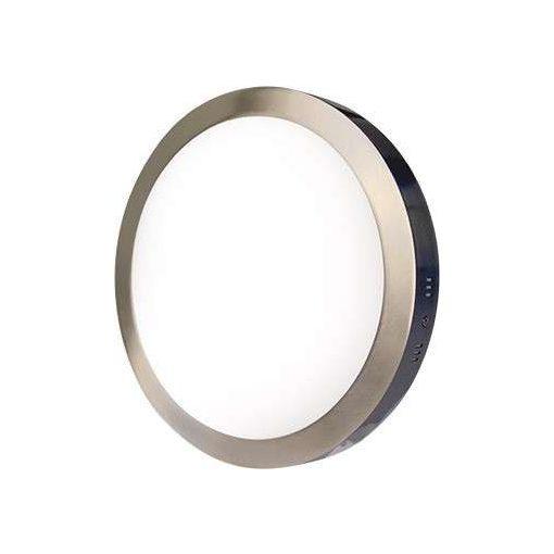 GREENLUX LEDES lámpa FENIX kör Ezüst keret 24W Meleg fehér