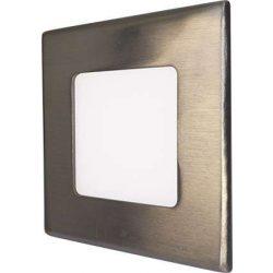 Mini Led Panel VEGA négyszögletes lámpa Ezüst keret 3W Meleg fehér