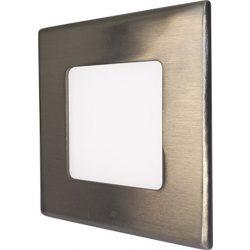 GREENLUX Mini Led Panel VEGA négyszögletes lámpa Ezüst keret 3W Természetes fehér