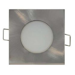 GREENLUX LED beépíthető lámpa négyszögletes Ezüst keret  5W Természetes fehér Kültéri
