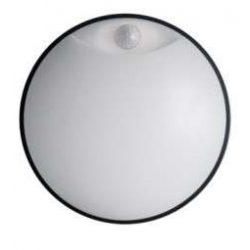 LED lámpa DITA Kör mozgásérzékelővel Fekete keret 14W Természetes fehér