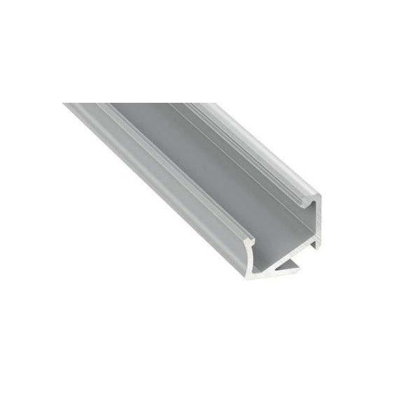 Led alumínium profil Asszimetrikus Sarokba rögzíthető (H) natúr 1 méteres alumínium