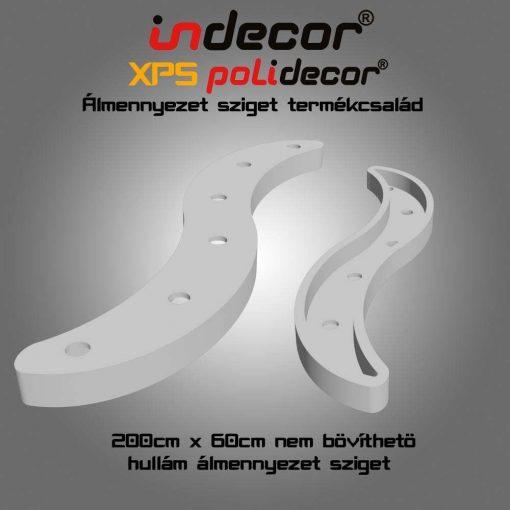Indecor® H-200x60-FZ-F Hullám álmennyezet sziget