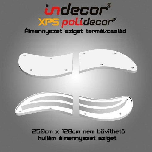 Indecor® H-250x120 Hullám álmennyezet sziget