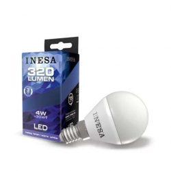 INESA E14 4W 160° LED gömb izzó 3000K G2  320Lm 10db-os csomag