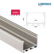Led profil led szalagokhoz Széles Magas Ezüst 2 méteres alumínium