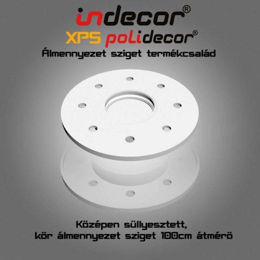 Indecor® K-100 Kör Süllyesztett álmennyezet sziget