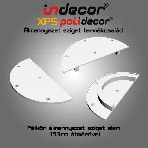 Indecor® K-150-Z-V Félkör álmennyezet sziget elem