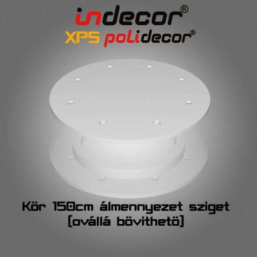 Indecor® K-150-Z Kör álmennyezet sziget