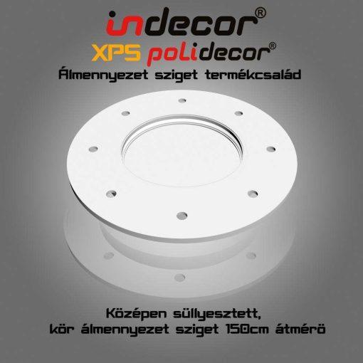 Indecor® K-150 Kör Süllyesztett álmennyezet sziget