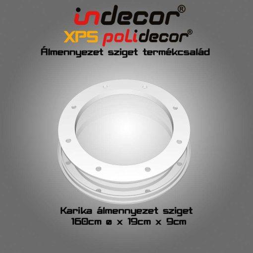 Indecor® K-160-F Karika álmennyezet sziget 160cm