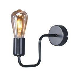 KAJA SKADI fekete színű fali lámpa