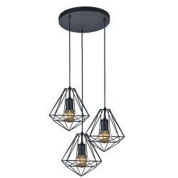 KAJA MARKO C-3 fekete színű függesztett lámpa