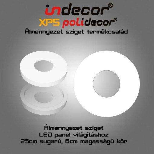 Indecor® K-50-FZ Kör álmennyezet sziget