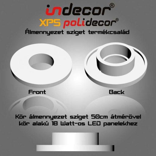 Indecor® K-50-LP-18 Kör álmennyezet sziget