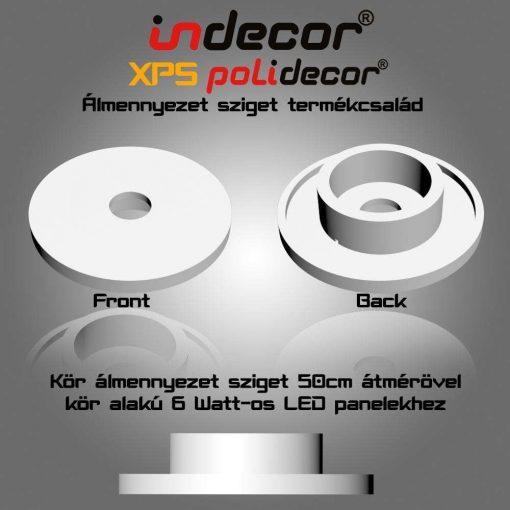 Indecor® K-50-LP-6 Kör álmennyezet sziget