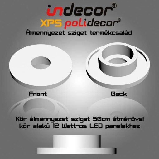 Indecor® K-50-LP 50cm Kör álmennyezet sziget