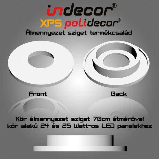 Indecor® K-70-LP 70 cm Kör álmennyezet sziget