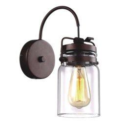KAJA RAVEN barna fali lámpa