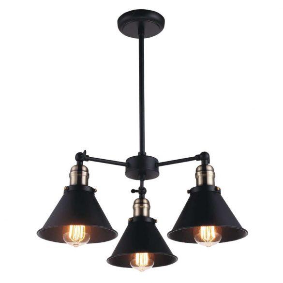 KAJA MORENO 3 fekete függesztett lámpa
