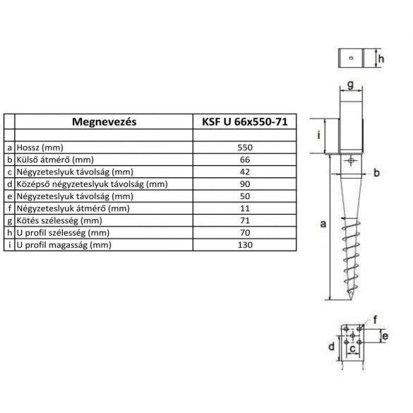 KSF U 66x550-71
