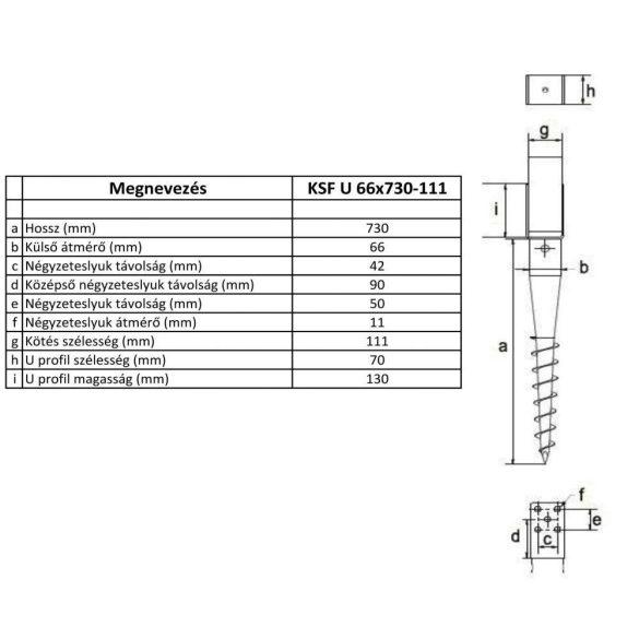 KSF U 66x730-111