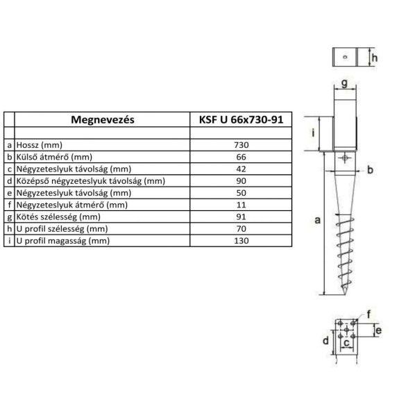 KSF U 66x730-91