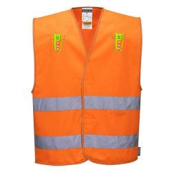 Sokoldalú jól láthatósági mellény Narancssárga L/XL méret