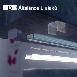 Konyhapult világítás szereld magad csomag D profil