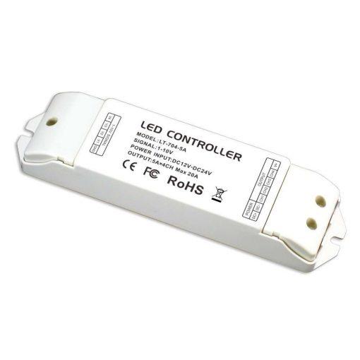LTECH 4 zónás vezérlő 0-10V/nyomógombos 20A 240W/480W