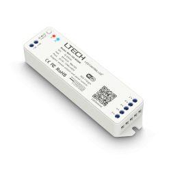 LTECH Wifi-s RGBW vezérlő távvezérlő támogatással 12A 144W / 288W (12V / 24V)