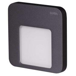 ZAMEL LEDES Kültéri Lépcső lámpa MOZA 14V Grafit keret Hideg fehér