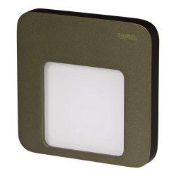 ZAMEL LEDES Kültéri Lépcső lámpa MOZA 14V Bronz keret Hideg fehér