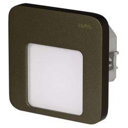 LEDES Beltéri Lépcső és Oldalfali lámpa Beépíthető MOZA 14V Bronz keret Hideg fehér