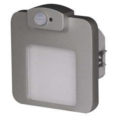 ZAMEL LEDES  Lépcső lámpa Beépíthető MOZA 230V Alumínium keret Meleg fehér Beépített érzékelővel