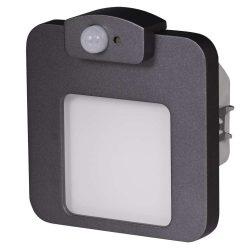 ZAMEL LEDES  Lépcső lámpa Beépíthető MOZA 230V Grafit keret Meleg fehér Beépített érzékelővel