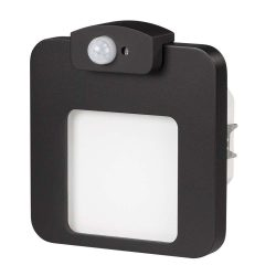 ZAMEL LEDES  Lépcső lámpa Beépíthető MOZA 230V Fekete keret Meleg fehér Beépített érzékelővel