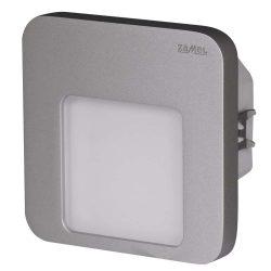 ZAMEL LEDES  Lépcső lámpa Beépíthető MOZA 230V Alumínium keret Hideg fehér