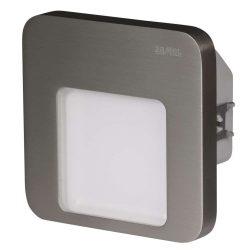 ZAMEL LEDES  Lépcső lámpa Beépíthető MOZA 230V Inox keret Meleg fehér
