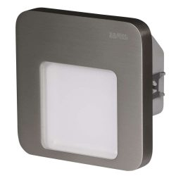 ZAMEL LEDES  Lépcső lámpa Beépíthető MOZA 230V Inox keret Hideg fehér