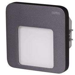 ZAMEL LEDES  Lépcső lámpa Beépíthető MOZA 230V Grafit keret Hideg fehér