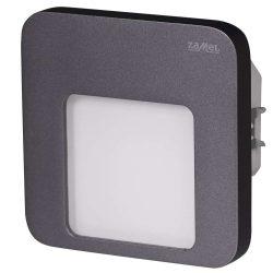 ZAMEL LEDES  Lépcső lámpa Beépíthető MOZA 230V Grafit keret Meleg fehér