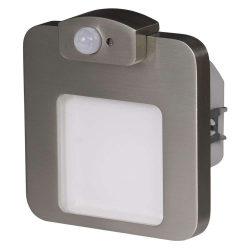 ZAMEL LEDES  Lépcső lámpa Beépíthető MOZA 230V Inox keret Hideg fehér Beépített érzékelővel